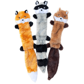 ZippyPaws - Skinny Peltz No Stuffing Squeaky Plush Dog Toy
