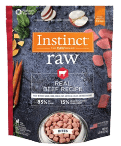 Instinct by Nature's Variety Frozen Raw Bites Grain-Free Real Beef Recipe Dog Food