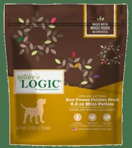 Nature's Logic Chicken Feast Patties Raw Frozen Dog Food