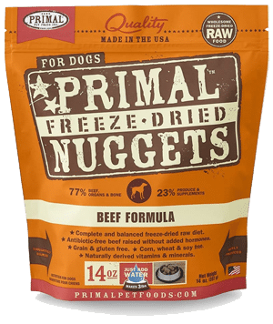Primal — Beef Formula Nuggets Grain-Free Raw Freeze-Dried Dog Food