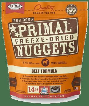Primal — Beef Formula Nuggets Grain-Free Raw Freeze-Dried Dog Food