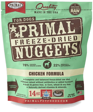 Primal Chicken Formula Nuggets Grain-Free Raw Freeze-Dried Dog Food