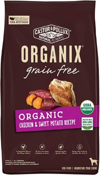 Castor and Pollux Organix Grain-Free Organic Chicken & Sweet Potato Recipe