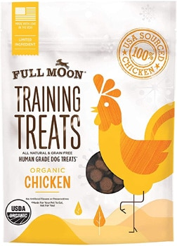 Full Moon Organic Chicken Training Dog Treats, 6-oz bag By Full Moon