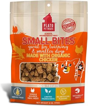 Plato Small Bites Organic Chicken Dog Treats